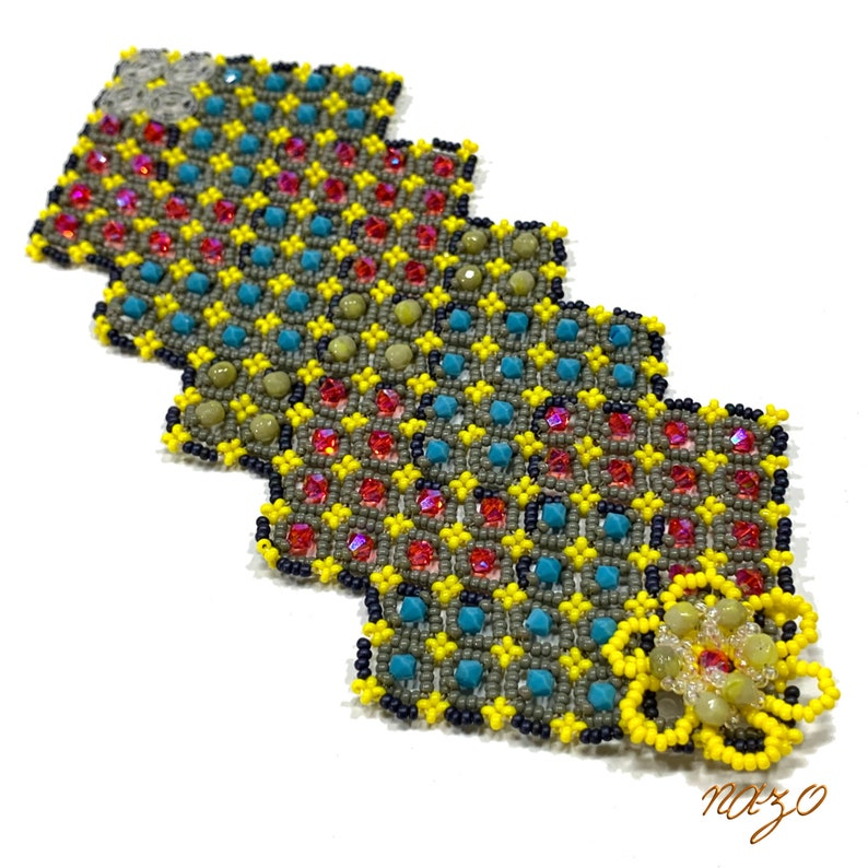 Nazo patchwork beaded bracelet patchwork beaded bracelet image 0