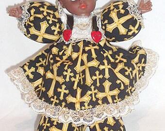 Zuna, OOAK African American, Black doll