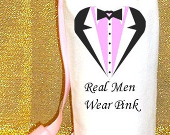 Real Men Wear Pink, Breast Cancer Support Water Caddy