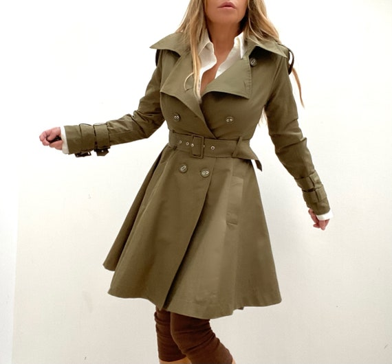 Double Breasted Princess Coat Trench Coat Dress Ol