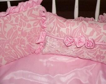 Luxurious Cradle or Crib Set in Bella Notte's Silky Velvet