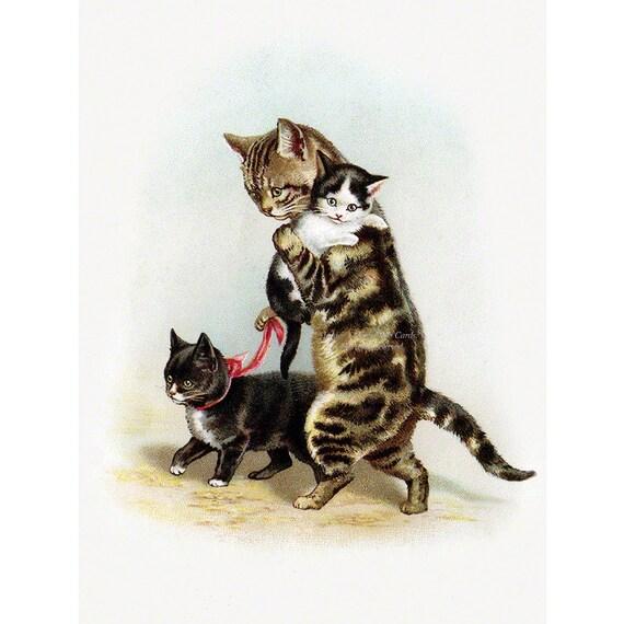 Открытка маме кошке