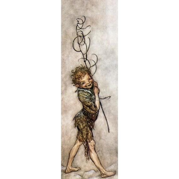 Art bookmark Fairy Art bookmark Midsummer Nights Dream metal bookmark