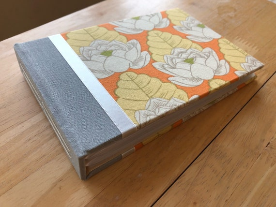 Tangerine Lotus Flower Photo Album 5x7 Photo Album 4x6 Photo Etsy
