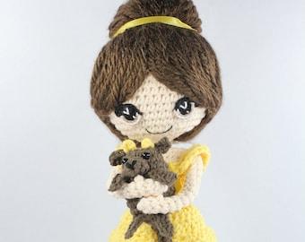PATTERN: Beauty and the Beast Crochet Amigurumi Dolls