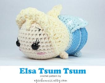 PATTERN: Elsa Tsum Tsum Crochet Amigurumi Doll