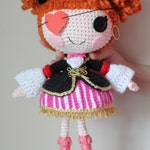 PATTERN: Cute Peggy Pirate Buchaneer Crochet Amigurumi Doll