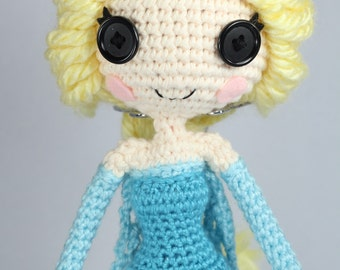 PATTERN: Elsa Crochet Amigurumi Doll