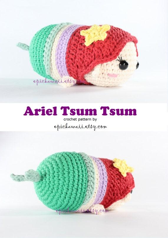 PATTERN: Ariel Tsum Tsum Crochet Amigurumi Doll | Etsy