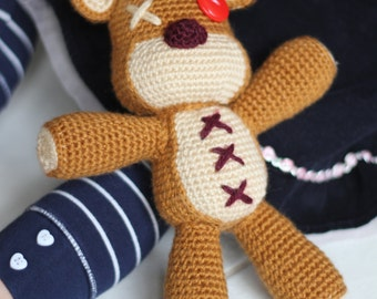 PATTERN: Tibbers Teddy Bear Crochet Amigurumi Doll