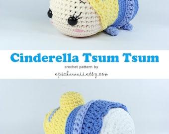 PATTERN: Cinderella Tsum Tsum Crochet Amigurumi Doll