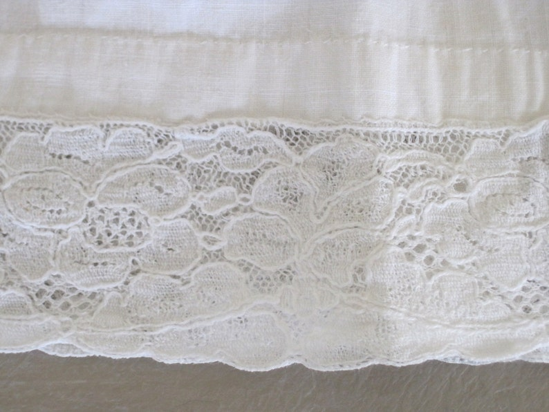 French Child/'s or Dolls Cotton and Lace Shift Dress Petticoat