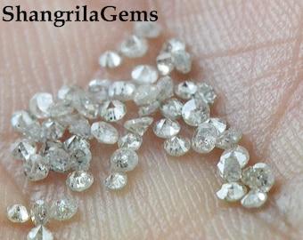 0.25ct 1.4mm to 1.5mm  Salt and Pepper Grey Diamonds brilliant cut round 15 diamonds approx