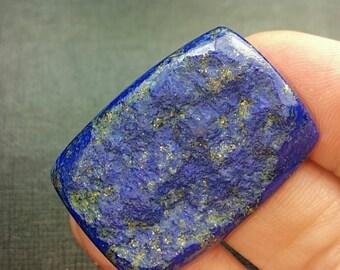 57ct 35mm Lapis Lazuli Custom Cut Designer semi rough cabochon oblong cushion 35 by 26 by 5mm