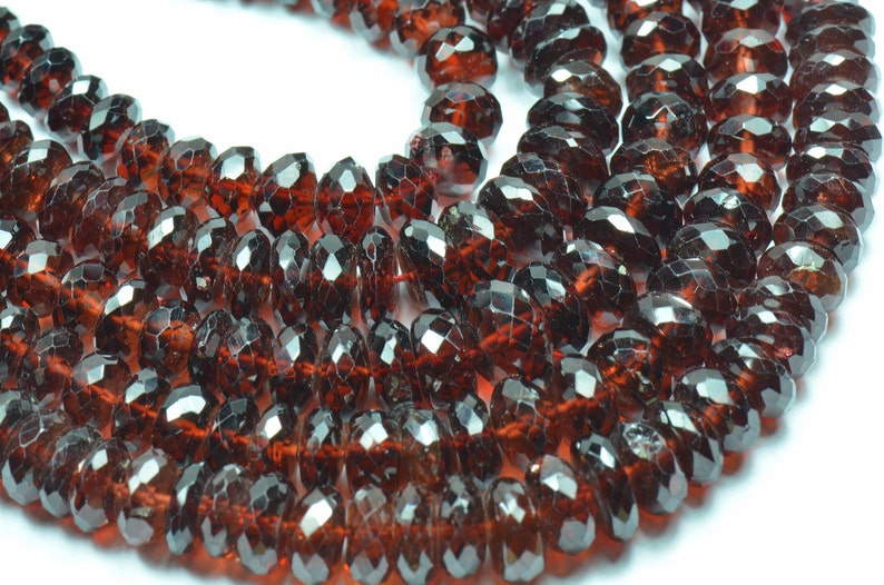 5mm MOZAMBIQUE GARNET AA beads 14 line 7mm we suggest using 0.010in 0.25mm wire