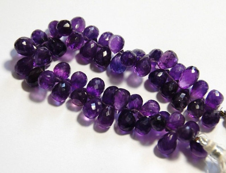 SALE 57 11mm to 12mm AMETHYST briolettes we suggest using 0.010in 0.25mm wire