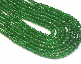 """SALE 2mm - 4mm 16"""" Tsavorite Garnet AAA green gemstone beads from Kenya TSA001 (we suggest using 0.10in 0.25mm wire)"""