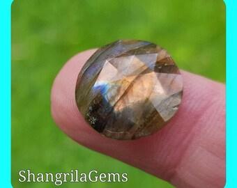 15mm Labradorite ROSE cut gemstone cabochon 15mm by 5mm deep