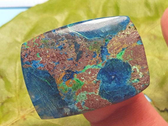 13Carat Natural Shattuckite Cabochon...Shattuckite With Azurite...Oval Shape Cabochon...21x15x6mm Approx
