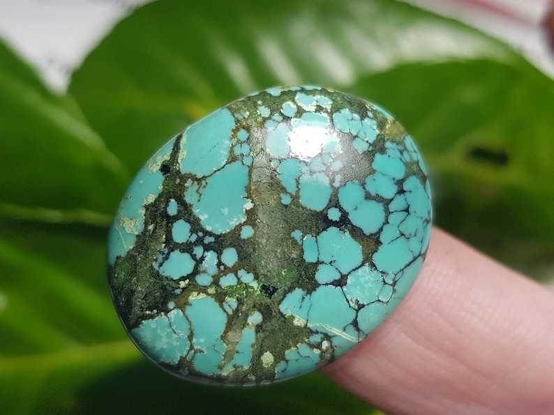 29mm Tibetan turquoise cabochon oval 29ct 29 by 23 by 6mm