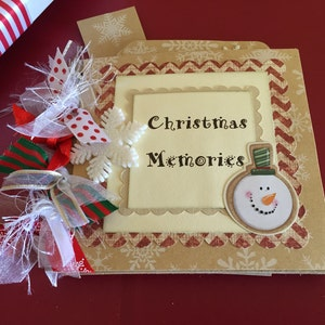 Christmas Snowman 6x9 Premade Scrapbook Album