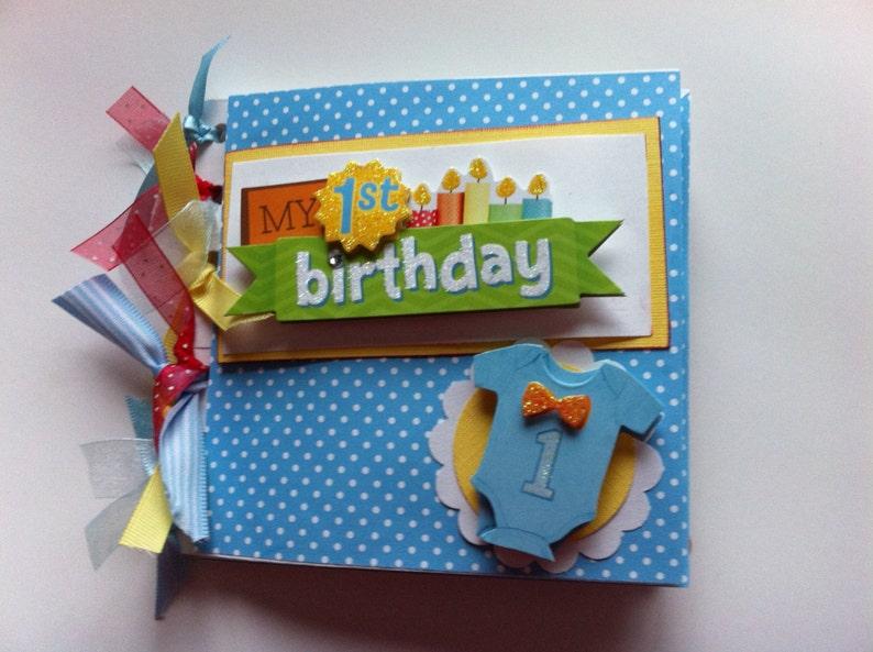 Babys First Birthday Scrapbook Album Baby Boy