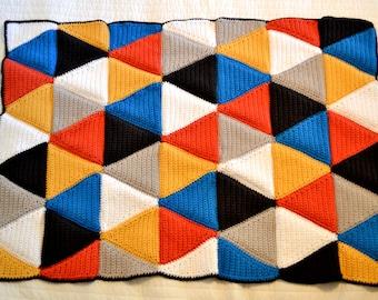 Crochet Triangle Blanket Pattern