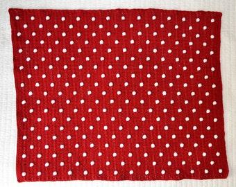 Crochet Polka Dot Blanket Pattern