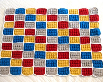 Crochet Block Baby Blanket (Can be customized)