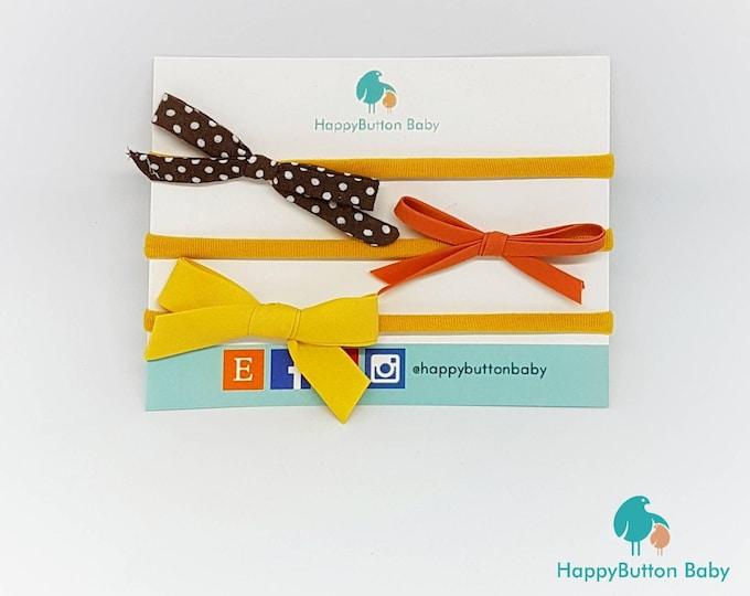 Petite Bow Headbands - 3pc Set