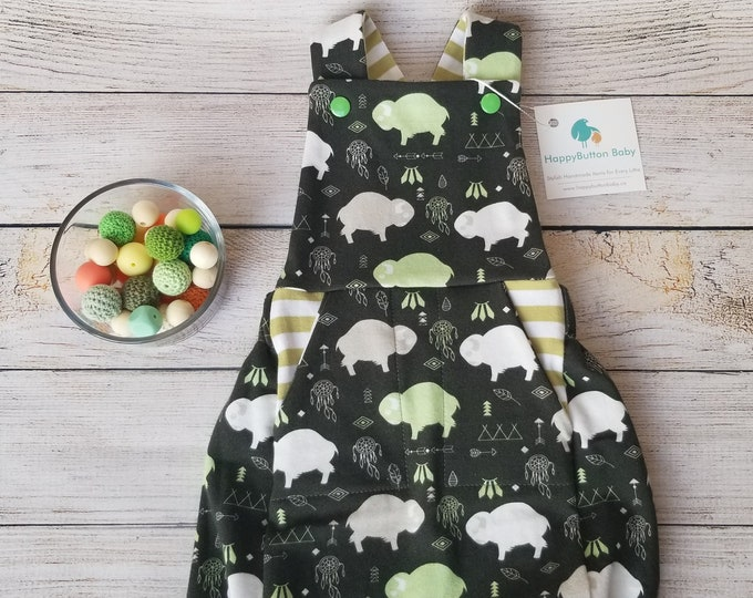 Baby Summer Dungarees - Unisex Summer Romper for Baby - 0-3 Months