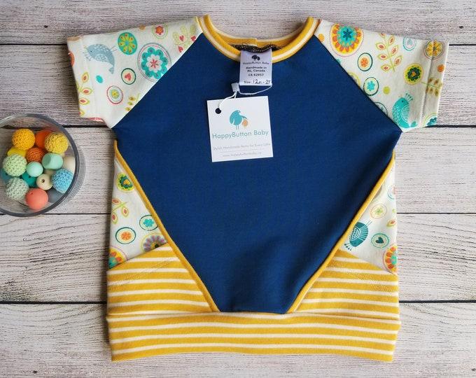 Baby/Toddler Short Sleeve Sweatshirt - Modern Kids Clothing - 12m-2T