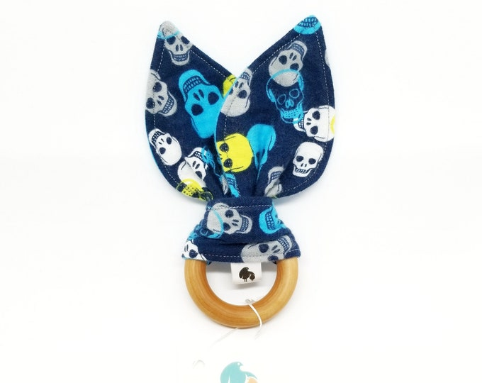 Natural Teething Toy - Bunny Ears Teether - Various Styles Available, Select Options at Checkout