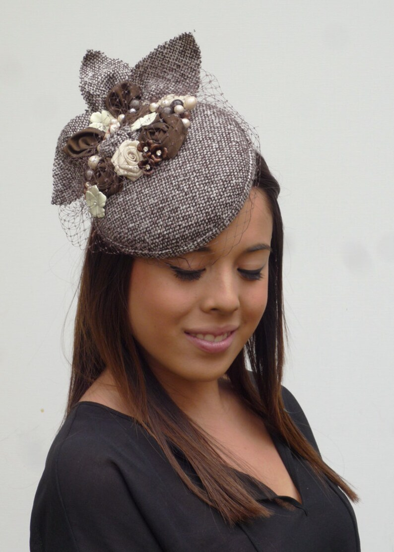 bd54c364a44a9 Couture completely handmade and handblocked cocktail hat in
