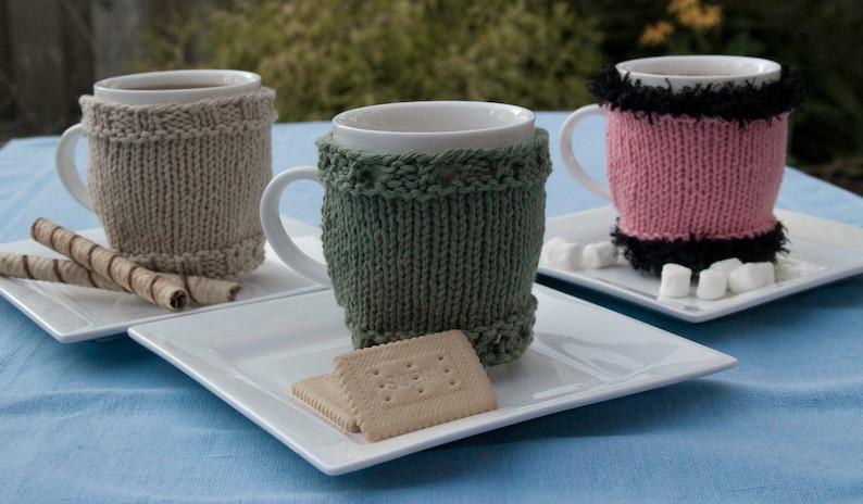 Coffee Tea and Me Mug Cozies Cup Sleeve Warmers Cover image 0