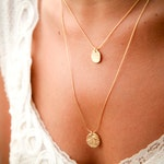 special listing to Rietee:) single necklace with sapphire stone and pendent