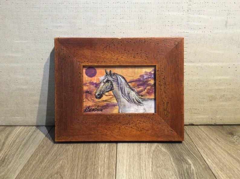 Horse Painting Framed Original Art