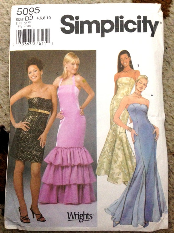 Prom Dress Pattern Diy Party Dress 4 In 1 Mermaid Trumpet Etsy