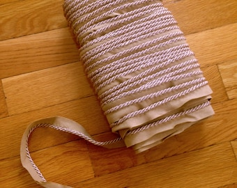 """40+ yds Lip Cord Piping 11/16"""" FREE SHIPPING Steampunk Brown Vintage Trim Westworld Costume Victorian Oklahoma Upholstery Supplies Bulk Trim"""