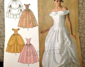 Scarlett O'Hara - Quinceañera - Easy Prom Gown Pattern Southern Belle 19th Century Gown Pre-cut Alternative Wedding Simplicity 4269 Sz 14-22