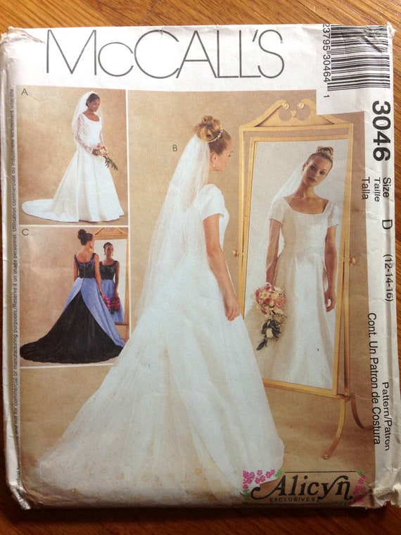 Wedding Dress Sewing Pattern Bridesmaid Attendant Retro Bustle Etsy