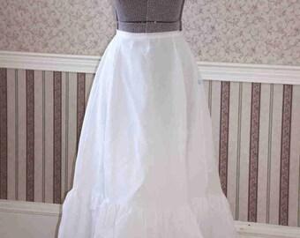 Crinoline Petticoat Ruffled Sz 14 Wedding Dress Bridal Slip Western Prairie Historic Costume A-Line Underskirt Full Length FREE SHIPPING