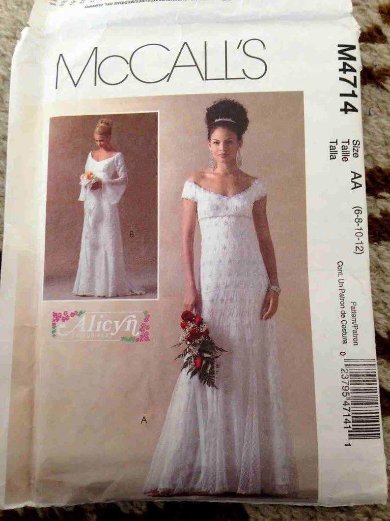 Wedding Dress Pattern Medieval Costume Oop Pre Cut Mccalls Etsy