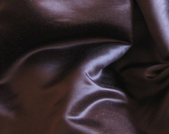 Silk Hemp Satin Fabric 5yds Brown Hempsilk Fabric Craft Dress Cloth Organic Silk Dark Chocolate Espresso Chestnut Material Curtains Pillows