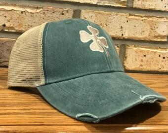 f86cb14dc06 4 Leaf Clover Hat - Shamrock