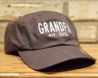 Grandpa Hat - Embroidered Established Grandpa or Dad Baseball Hat -  Grandfather a6b789bc514b