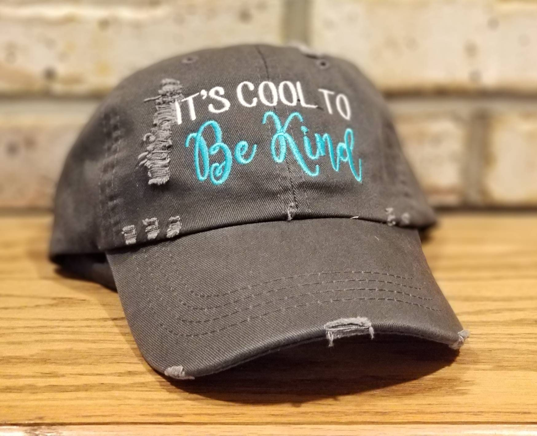 8a5983448 It's Cool To Be Kind Hat - Embroidered Kindness Baseball Cap, Stop  Bullying, Anti Bully, Custom Designed Hats, Friendship Ball Caps