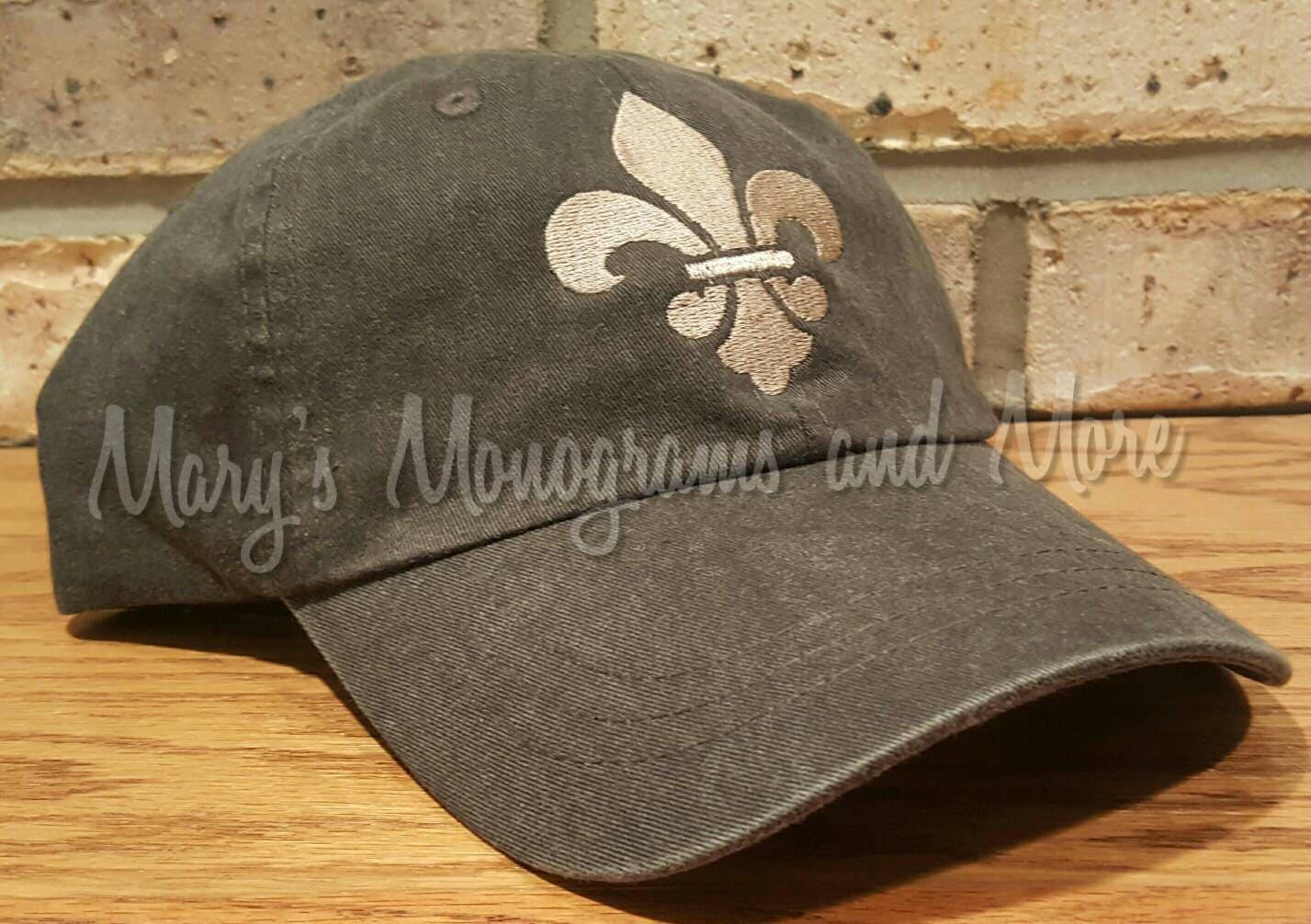 3bea963025b Fleur-de-Lis Hat Embroidered Fleur de Lis Baseball Hat