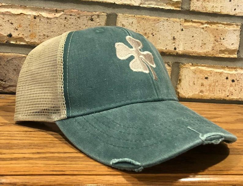 2019adf459b 4 Leaf Clover Hat Shamrock Four Leaf Clover St.