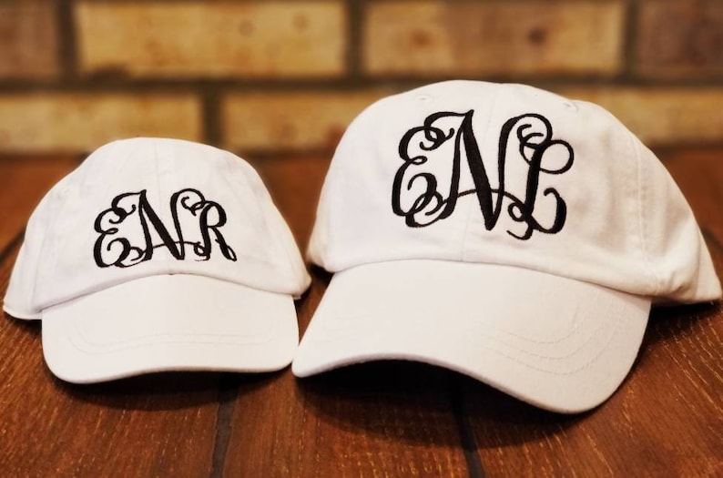 b821be9f8 Mommy and Me Monogrammed Hats, Embroidered Matching Mother Daughter Hat  Set, Personalized, Baseball Hats,